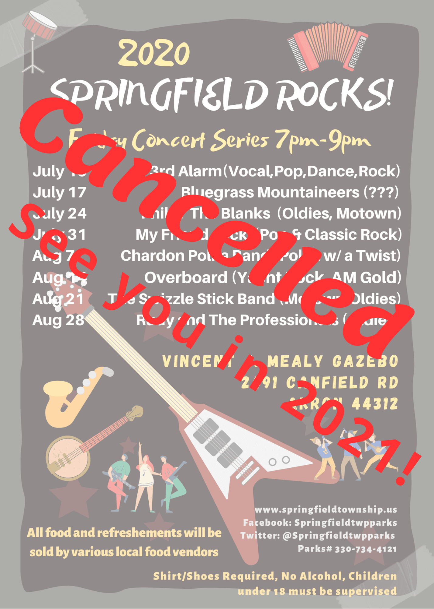 Cancelled Concerts for 2020
